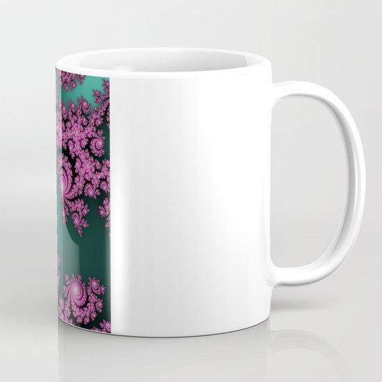 Fractal in Dark Pink and Green Mug