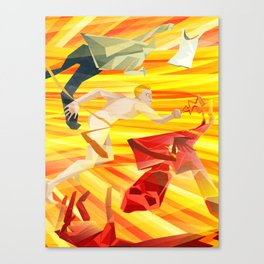 The Flasher Canvas Print