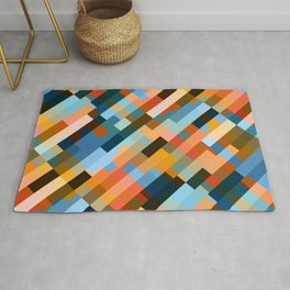 multicolored striped pattern Rug