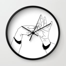 Dirty minded Wall Clock