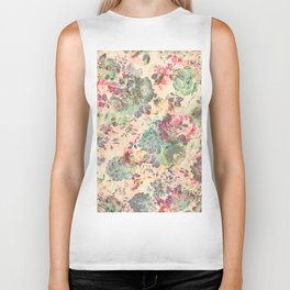 Flower Abstraction Biker Tank