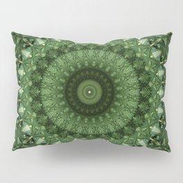 Mandala in olive green tones Pillow Sham