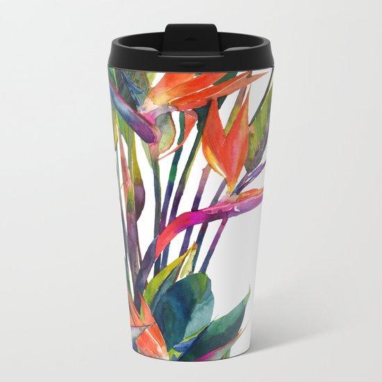 The bird of paradise Metal Travel Mug