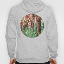 Lost in the Forest - watercolor painting collage Hoody