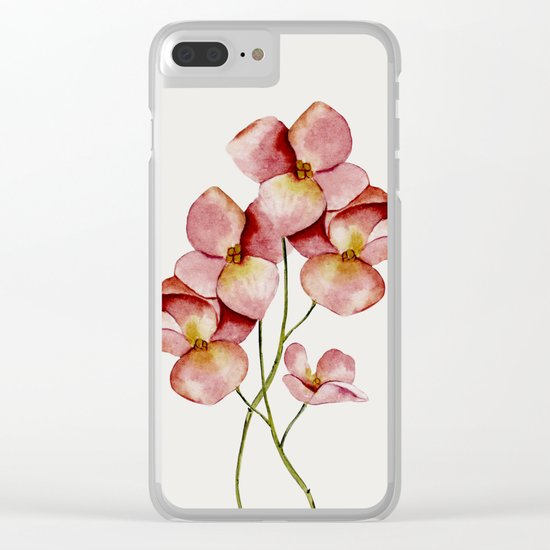 Soft Flowers Clear iPhone Case