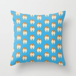 Corgi Butts Throw Pillow