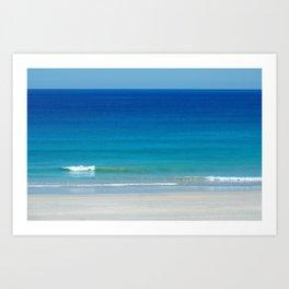 Turquoise Water - Shades of blue Australian Seascape Art Print