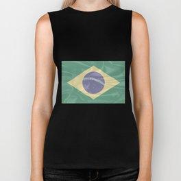 Brazil Silk Flag Biker Tank