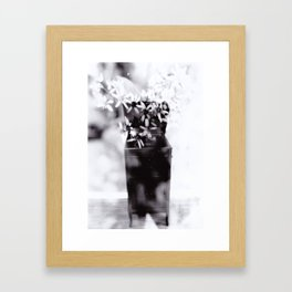 Music creates ideas, fuels imagination, & may shoot out flowers Framed Art Print