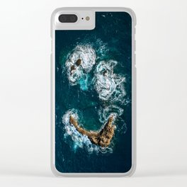 Sea Smile - Ocean Photography Clear iPhone Case