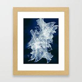 Navy Night Framed Art Print