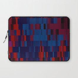 Red and Blue Digi Fractal Laptop Sleeve