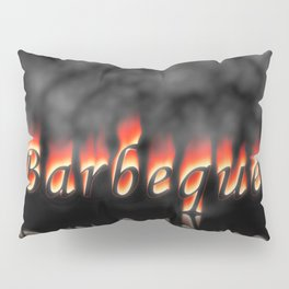 Barbeque Text On Fire Pillow Sham