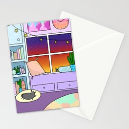 Witchy Sunset Stationery Cards