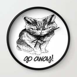 Go Away Wall Clock