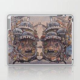 Howls Moving Castle on Wood Laptop & iPad Skin