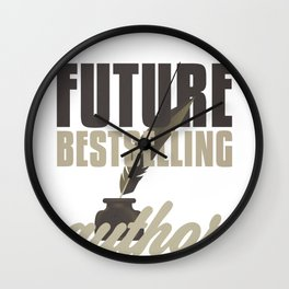 Author Writer Future Best Selling Author Wall Clock