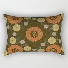 Autumn abstract dahlia pattern Rectangular Pillow