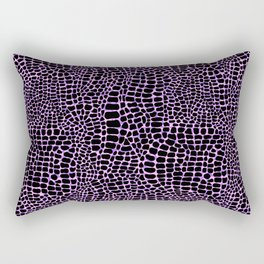 Neon crocodile/alligator skin Rectangular Pillow
