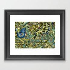 Drawing Meditation - Yellow Framed Art Print