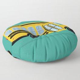 Cute School Bus Floor Pillow