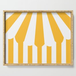 yellow tent Serving Tray
