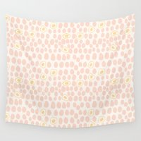 eggs Wall Tapestries featuring Eggs by Catherine Gibbard