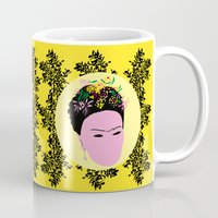 frida Mugs featuring Frida by Emmanuelle Ly