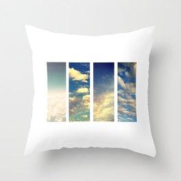 coton nuage Throw Pillow