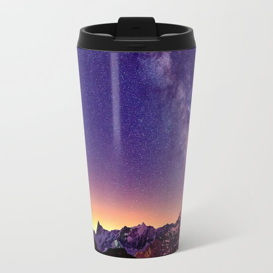 Sunset Mountain #stars Metal Travel Mug