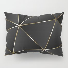 Triangles with golden threads Pillow Sham