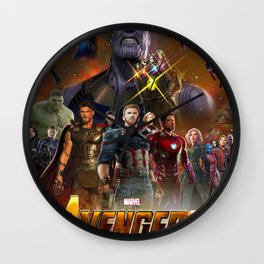 infinity war Wall Clock
