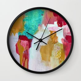 LAKE ON FIRE Wall Clock
