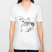 eternal sunshine of the spotless mind V-neck T-shirts featuring Eternal Sterek by MGNemesi