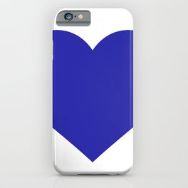 Heart (Navy Blue & White) iPhone Case