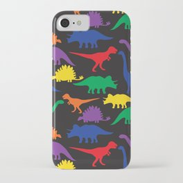 Dinosaurs - Black iPhone Case