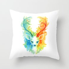 Feather Fawn Throw Pillow