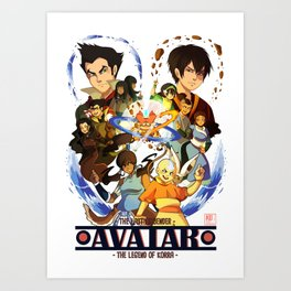 Team Avatar Art Print