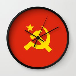 Communist Hammer & Sickle & Star Wall Clock