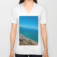 brazil V-neck T-shirts featuring Brazil Beach by Mauricio Santana