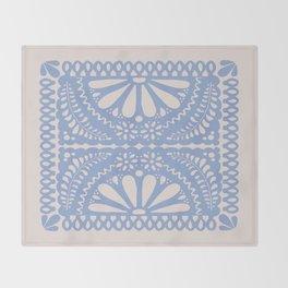 Fiesta de Flores Serenity Blue Throw Blanket