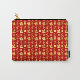 Mandarin Ducks, love and eternal knot pattern Carry-All Pouch