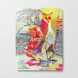 City Fox Metal Print