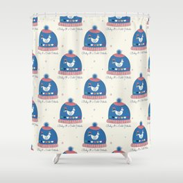 Baby it's cold outside- winter hat Shower Curtain