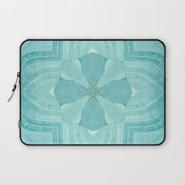 Jade Agate Stone Flower Laptop Sleeve