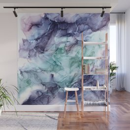 Growth- Abstract Botanical Fluid Art Painting Wall Mural