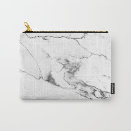 White Marble I Carry-All Pouch