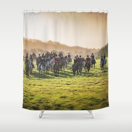 Cheshire Drag Hunt Boxing day 2016 Shower Curtain