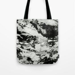 White black marble Tote Bag