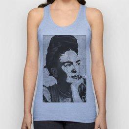 Frida Kahlo B&W Unisex Tank Top